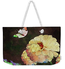Flower Knows, When Its Butterfly Will Return Weekender Tote Bag