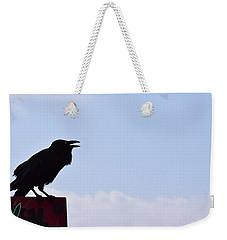 Crow Profile Weekender Tote Bag by Sandy Taylor