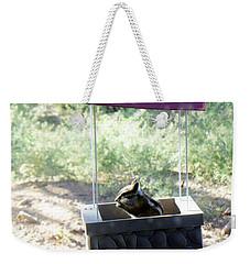 Bird Seed Thief Chipmunk Weekender Tote Bag