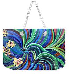 Bird Symphony With Frangipani Weekender Tote Bag