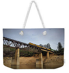 Bird Vs Train Weekender Tote Bag