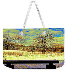 Bird Watchers Bench Winter Crabtree Nature Center Cook County Il Weekender Tote Bag