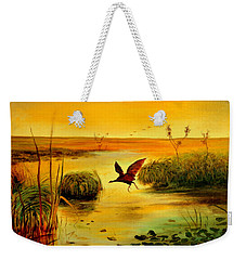 Bird Water Weekender Tote Bag