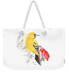 Bird In Yellow Weekender Tote Bag