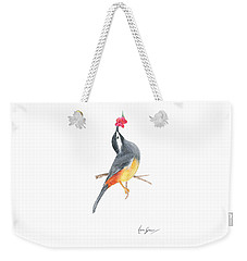 Minimal Bird And Flower Weekender Tote Bag