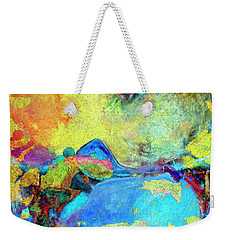 Weekender Tote Bag featuring the painting Birdland by Dominic Piperata