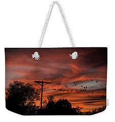 Birds And Sunset Weekender Tote Bag