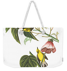 Weekender Tote Bag featuring the photograph Birds Chat by Munir Alawi