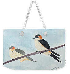 Birds Couple Weekender Tote Bag