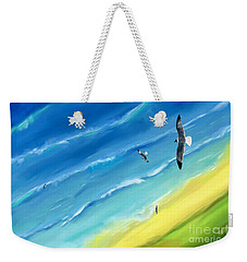 Bird's-eye Above Sea Weekender Tote Bag