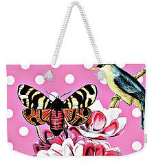 Birds, Flowers Butterflies And Polka Dots Weekender Tote Bag