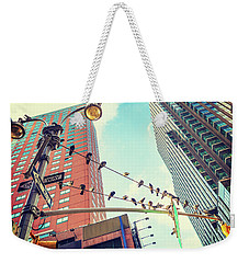 Birds In New York City Weekender Tote Bag