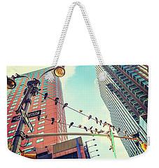 Birds In New York City Weekender Tote Bag