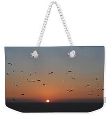 Birds In Sunset Weekender Tote Bag