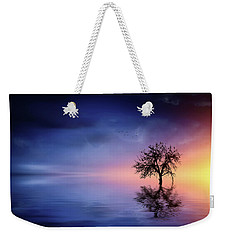 Birds In The Trees, Some Are Fleeing Weekender Tote Bag by Bess Hamiti
