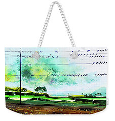 Birds Line Up Weekender Tote Bag