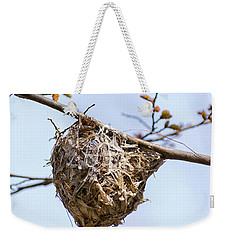 Weekender Tote Bag featuring the photograph Birds Nest by Christina Rollo