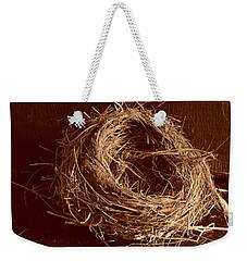 Bird's Nest Sepia Weekender Tote Bag