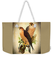 Weekender Tote Bag featuring the mixed media Birds Of Prey 1 by Charmaine Zoe