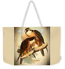 Weekender Tote Bag featuring the mixed media Birds Of Prey 2 by Charmaine Zoe