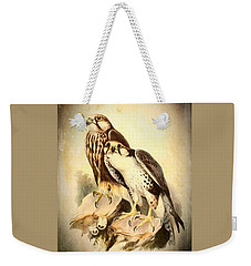 Weekender Tote Bag featuring the mixed media Birds Of Prey 3 by Charmaine Zoe