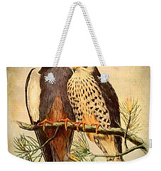 Weekender Tote Bag featuring the mixed media Birds Of Prey 4 by Charmaine Zoe