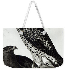 Birds Of Prey Weekender Tote Bag by Charles Darwin