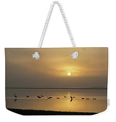 Birds On A Hazy Day Weekender Tote Bag