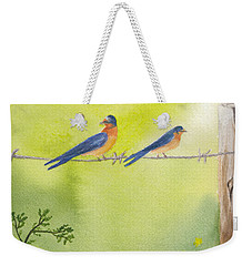 Birds On A Wire Barn Swallows Weekender Tote Bag