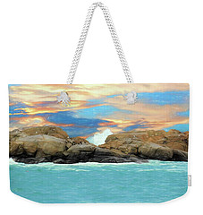 Birds On Ocean Rocks Weekender Tote Bag