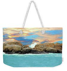 Birds On Ocean Rocks Weekender Tote Bag