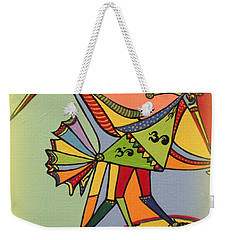Birds On A Space Mission Weekender Tote Bag