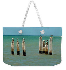 Birds On Sticks Weekender Tote Bag by David  Van Hulst