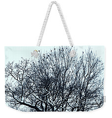 Birds On The Tree Monochrome Weekender Tote Bag