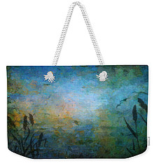 Birds Over The Lake Weekender Tote Bag by Kathie Miller