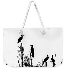Birds Perched On Branches Weekender Tote Bag