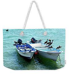 Birds Sunbathing  Weekender Tote Bag by Haleh Mahbod