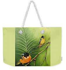 On The Lookout, Birds  Weekender Tote Bag