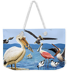 Birds With Strange Beaks Weekender Tote Bag by R B Davis