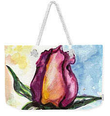 Weekender Tote Bag featuring the painting Birth Of A Life by Harsh Malik