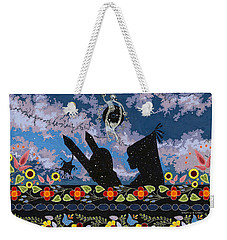 Weekender Tote Bag featuring the painting Birth Of The Universe by Chholing Taha