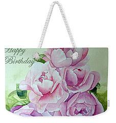 Birthday Peonies Weekender Tote Bag
