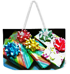 Birthday Presents Weekender Tote Bag