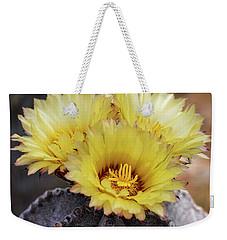 Weekender Tote Bag featuring the photograph Bishop's Cap Cactus  by Saija Lehtonen