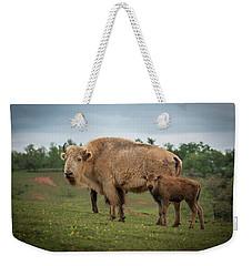 Bison 7 Weekender Tote Bag