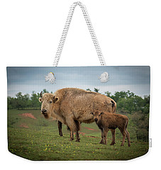 Weekender Tote Bag featuring the photograph Bison 7 by Joye Ardyn Durham