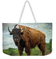 Bison 9 Weekender Tote Bag