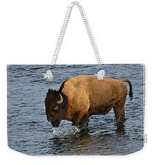 Bison Crossing River Weekender Tote Bag