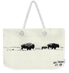 Bison Family Weekender Tote Bag by Eric Tressler