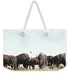 Bison Weekender Tote Bag by Lauren Mancke